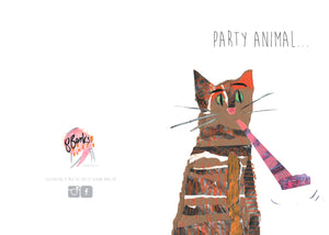 'Party Animal' Greeting Card