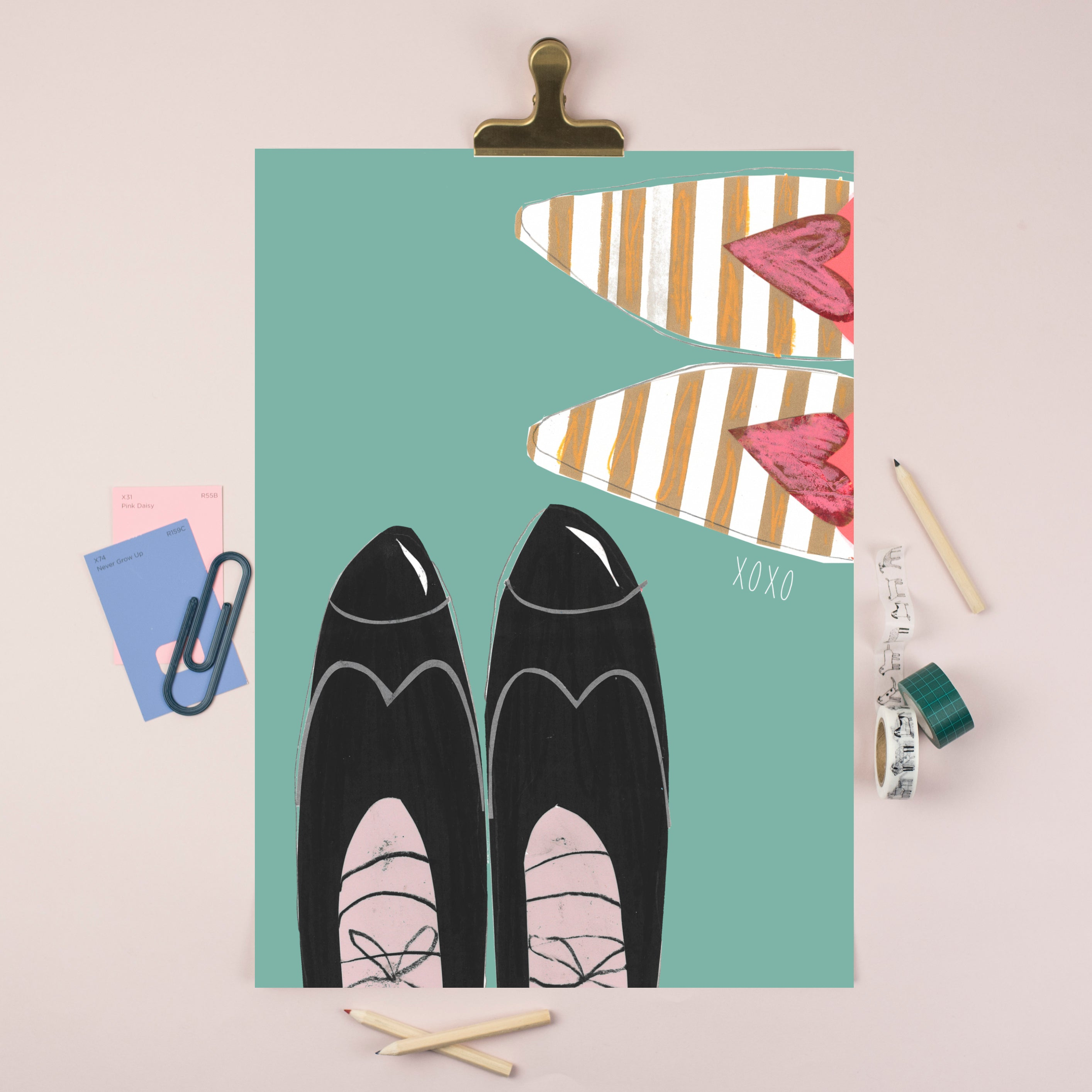 A5 Wedding Shoes Illustrated Print