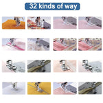 32 Pcs Foot Presser Set For Sewing Machine Rythale