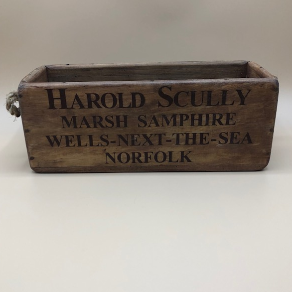 Vintage style Harold Scully Wooden Crate