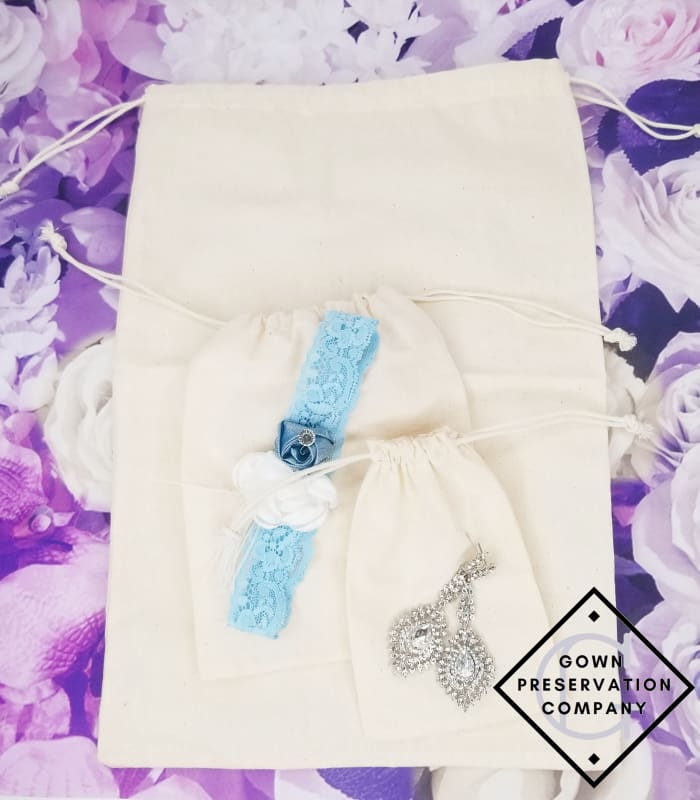 100% Cotton Muslin Drawstrings Bag