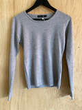 Grey Staple Long Sleeve Top