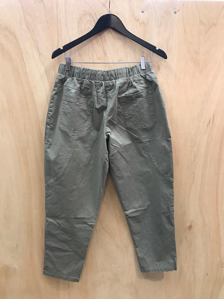 Beach Cotton Pant Taupe