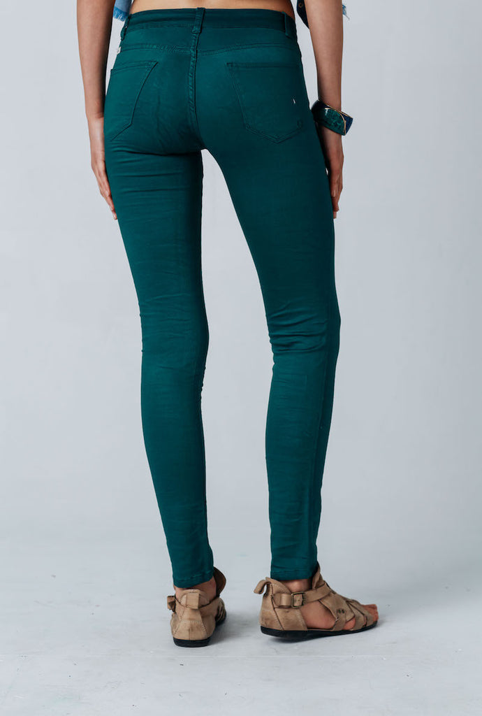 Carousel Essentials Slinky Jean In Emerald