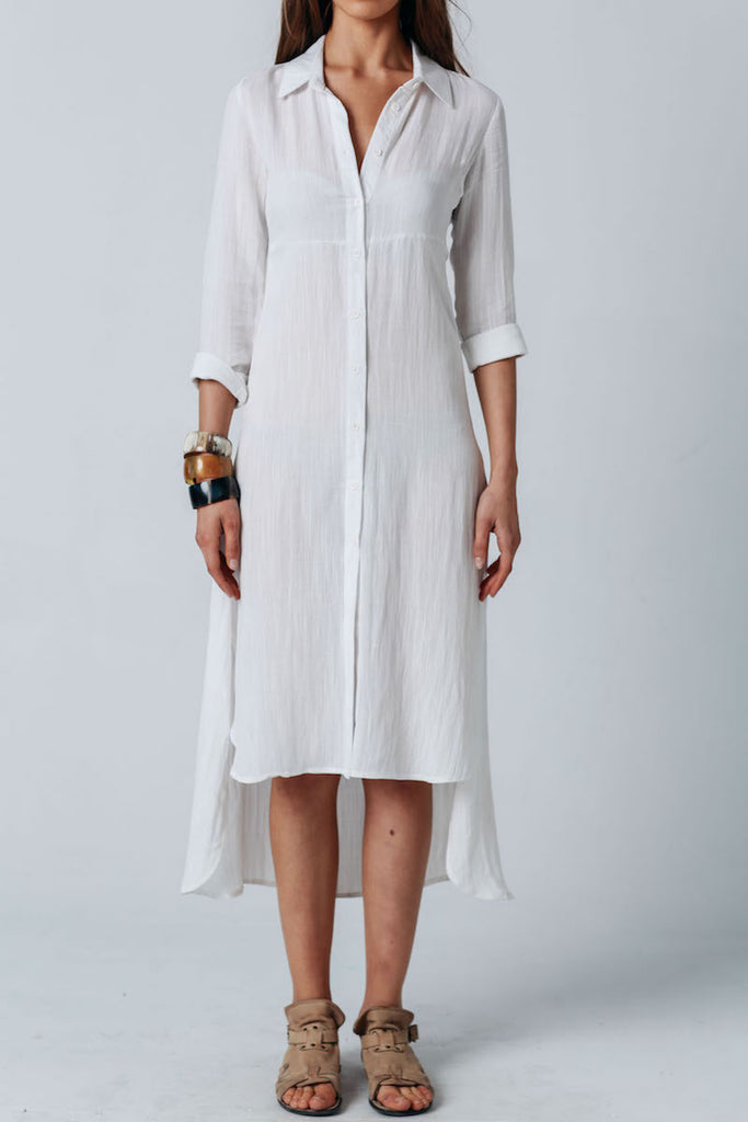 Carousel Essentials Medusa Shirt Dress WHITE