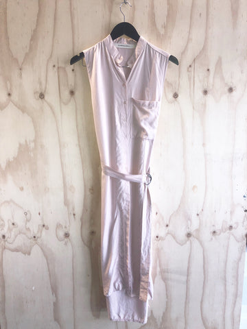 Carousel Essentials Wrap Dress In Pale Pink