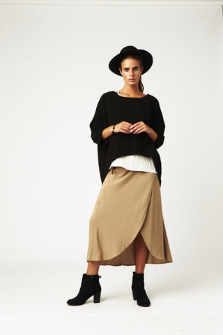 Carousel Essentials Military Skirt in Kahki