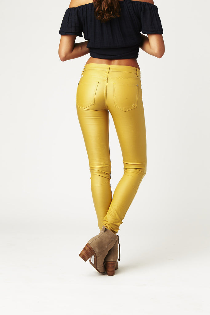 Carousel Essentials Wax Jean in Mustard