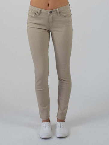 Carousel Essentials Washed Skinny Jean in Grey Denim