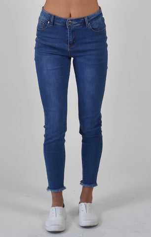 Carousel Essentials Brushed Beige Straight Leg Jean