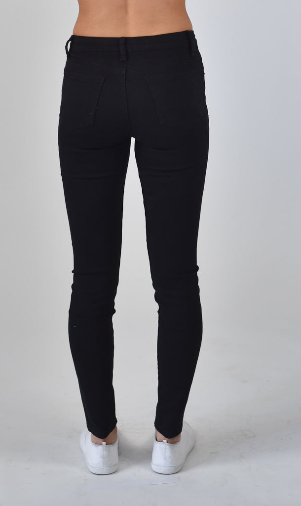Carousel Essentials Brushed straight leg Jeans in Black