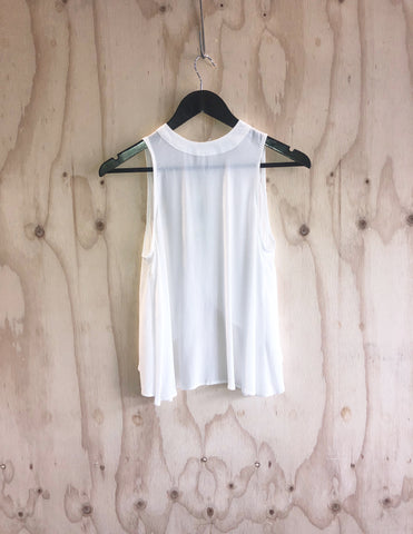 Sheer Stripe Tank Lime/White