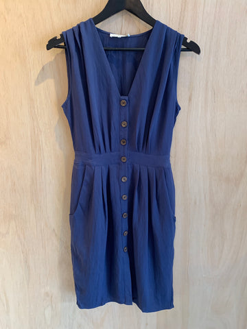 Linen Day Dress Teale