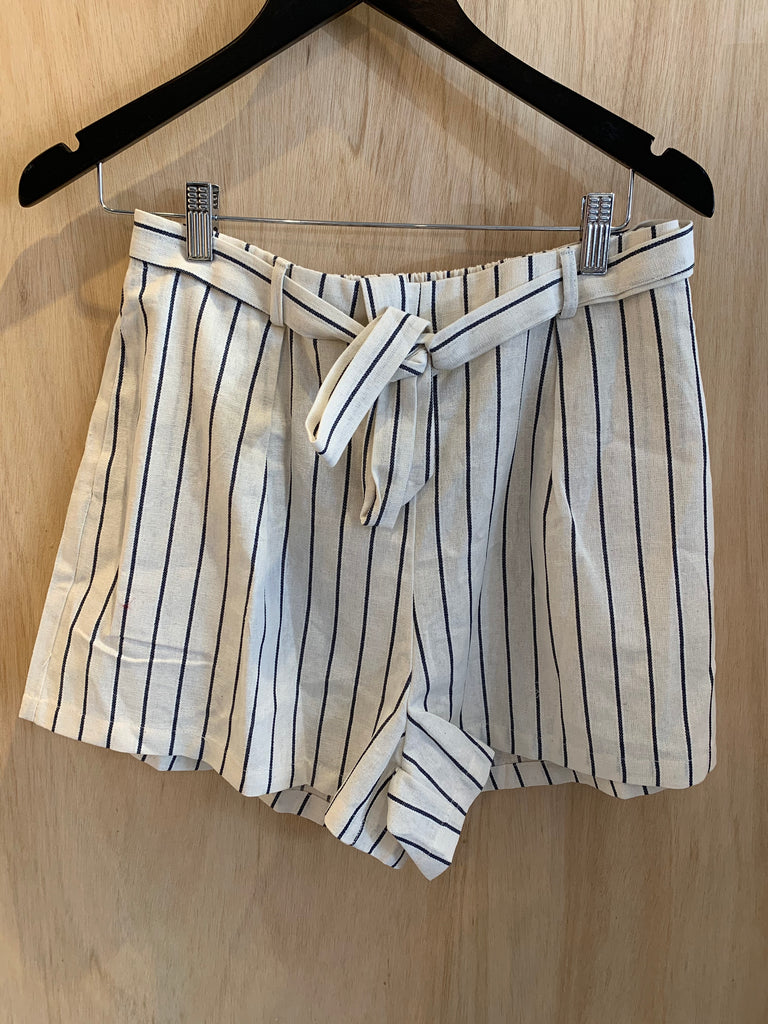 Striped Candy Shorts - Creme