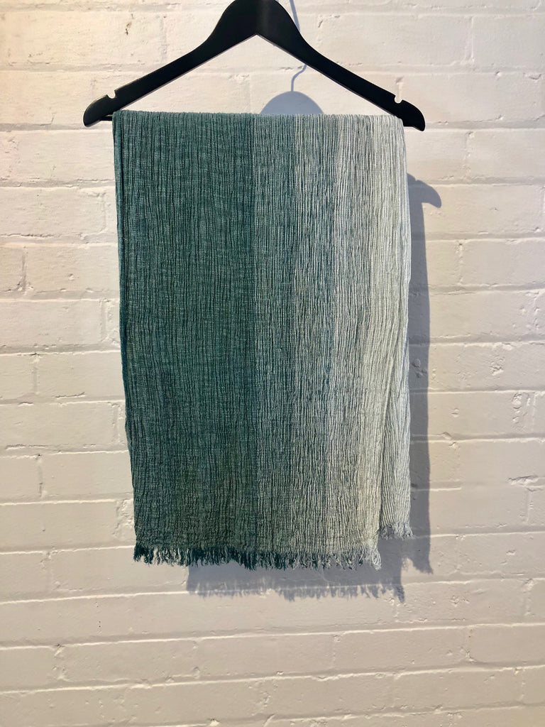 Ripple Scarf in Green
