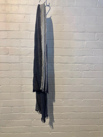 WOOLEN SCARF- DARK GREY