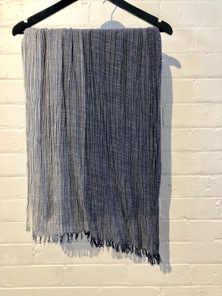 Ripple Scarf in Blue