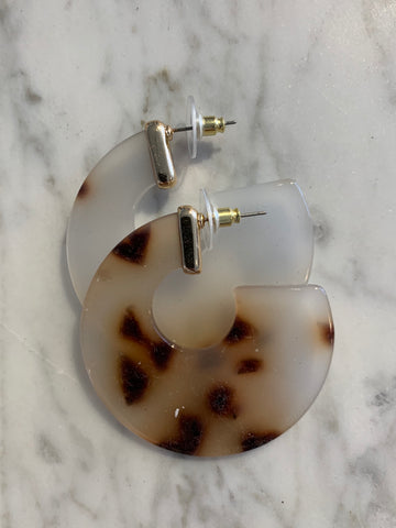Circle Drop 70s Earrings