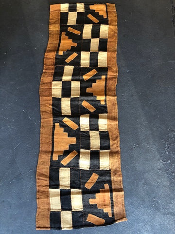 Tribal Kilim Stripe Black- Towel