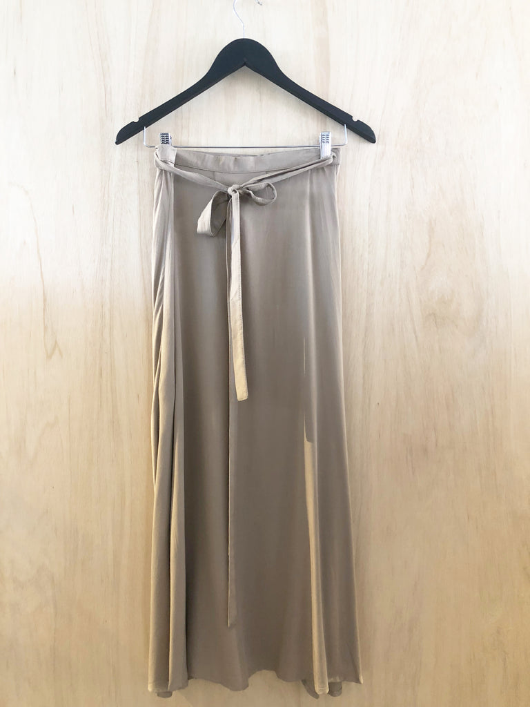 Carousel Essentials Wrap Skirt in Beige