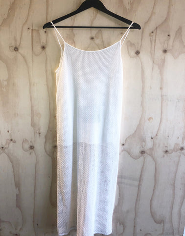 Primari White Loose Silk Tank