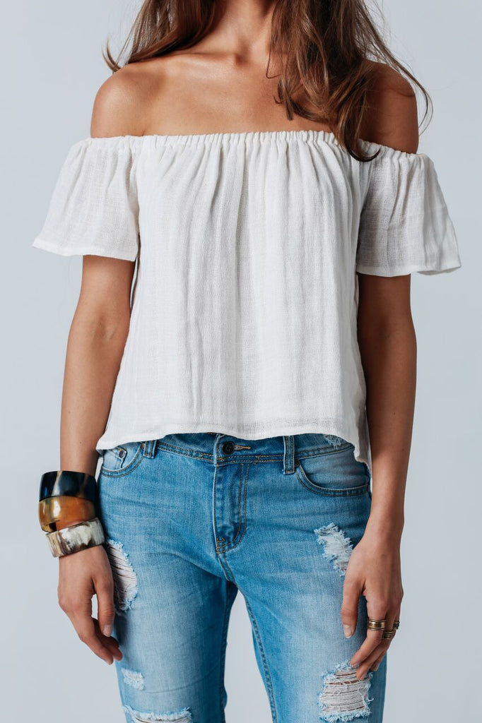 Gypsy top in white