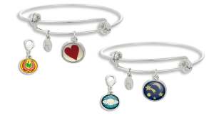 Share that you are lucky in love or let people know what planet you are from with the addition of a Winky&Dutch Charm to our  Adjustable Bracelet or a bracelet of your own.