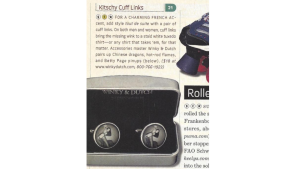 The Winky&Dutch cufflinks at a solid number 21 on the Entertainment Weekly hot 100 gift list - were cited as being 'Kitschy Cuff Links'