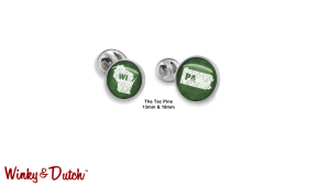 A -Tac your style woes with the Winky&Dutch Tac Pins.  Available in 2 sizes.