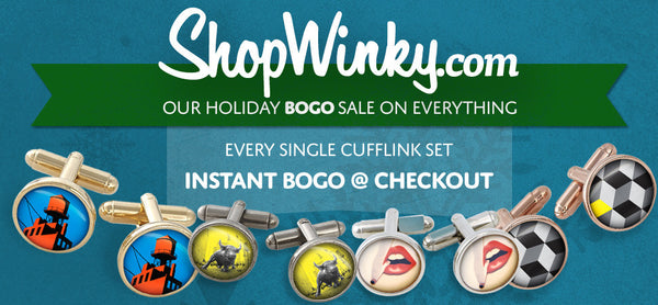 WINKY&DUTCH CUFFLINK BOGO - BUY ONE PAIR GET ONE PAIR FREE