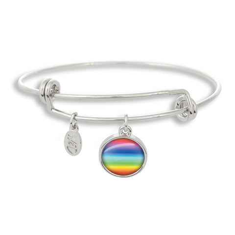 Gay & LGBT Pride Rainbow Bangle Bracelet | Handcrafted USA