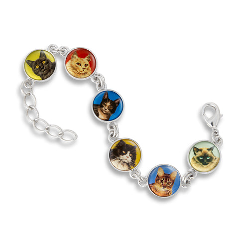 Link Charm Bracelet featuring Cats