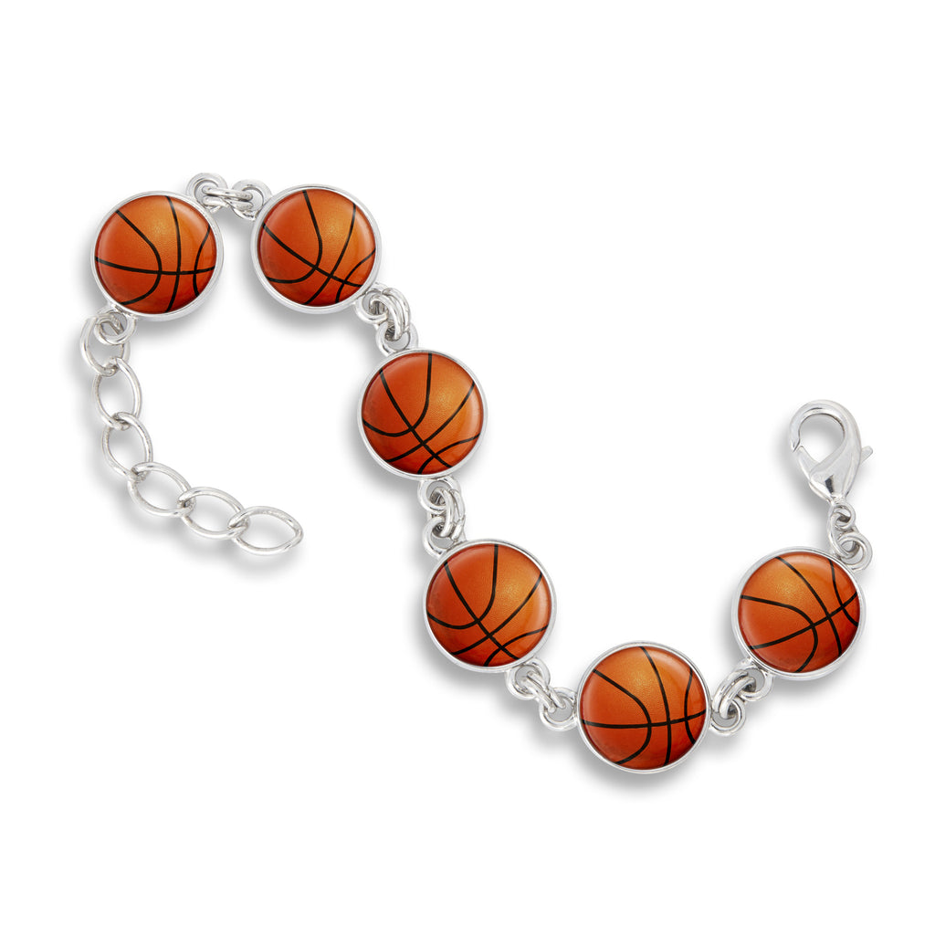 Link Charm Bracelet featuring Basketball Dreams