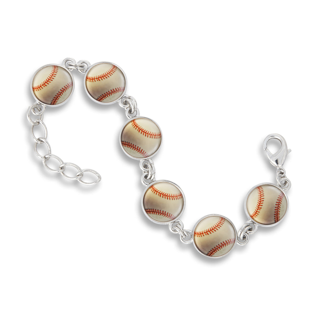 Link Charm Bracelet featuring Baseball