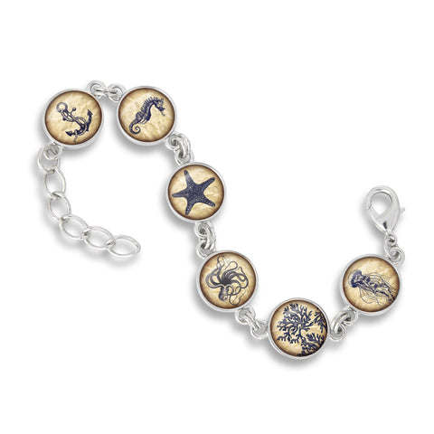 Nautical Charm Bangle Bracelet