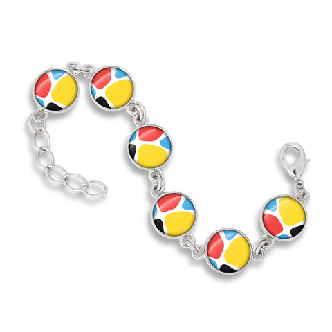 Link Charm Bracelet Featured in the Zoolander CMYK Giraffe Print