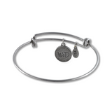 Handcrafted in the USA Bangle Charm Bracelet - Claddagh