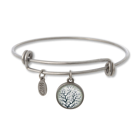 Tree of Life Charm Bangle - Handcrafted USA
