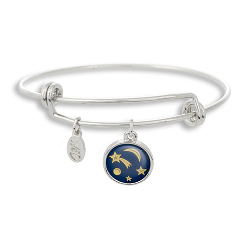 Shooting stars brighten up the sky, but not as much as you do with The Winky&Dutch Adjustable Band Bangle Bracelet featuring the Comet.