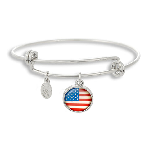 It's a grand old flag, it's a high flying flag! The Winky&Dutch Adjustable Band Bangle Bracelet is proudly Made in the USA and it shows with the USA Flag!