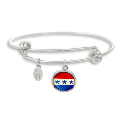 Our stars and stripes blend pair perfectly with The Winky&Dutch Adjustable Band Bangle Bracelet.