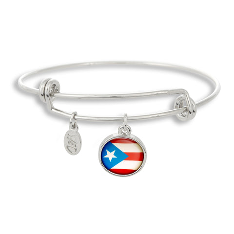 Show your inner Boricua on the outside with The Winky&Dutch Adjustable Band Bangle Bracelet featuring the Puerto Rico flag.