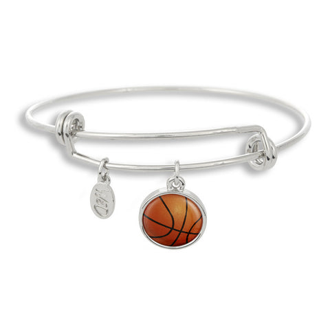 You shoot! You score! The Winky&Dutch Adjustable Band Bangle Bracelet featuring the basketball is the perfect accessory to guarantee that perfect three-point shot!