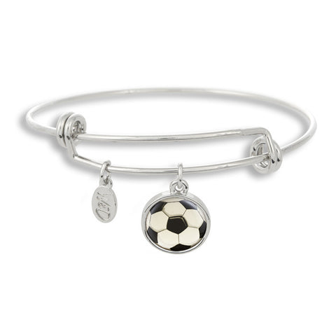 It's all about your own world cup with The Winky&Dutch Adjustable Band Bangle Bracelet featuring the scoccer ball.