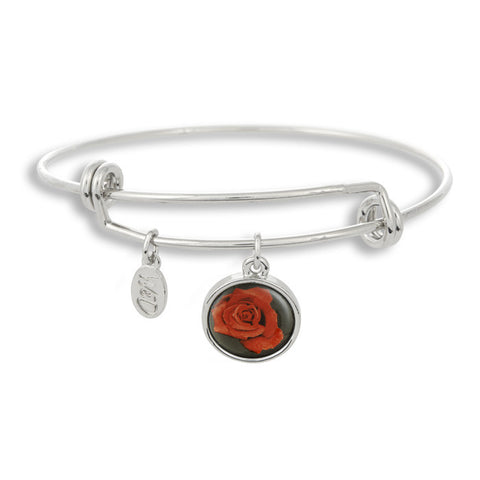 Stop and smell the roses every day when you wear The Winky&Dutch Adjustable Band Bangle Bracelet featuring the rose.