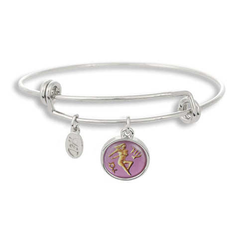 The Adjustable Band Bangle Bracelet featuring the ancient Virgo astrology sign shows that your style is in the stars!