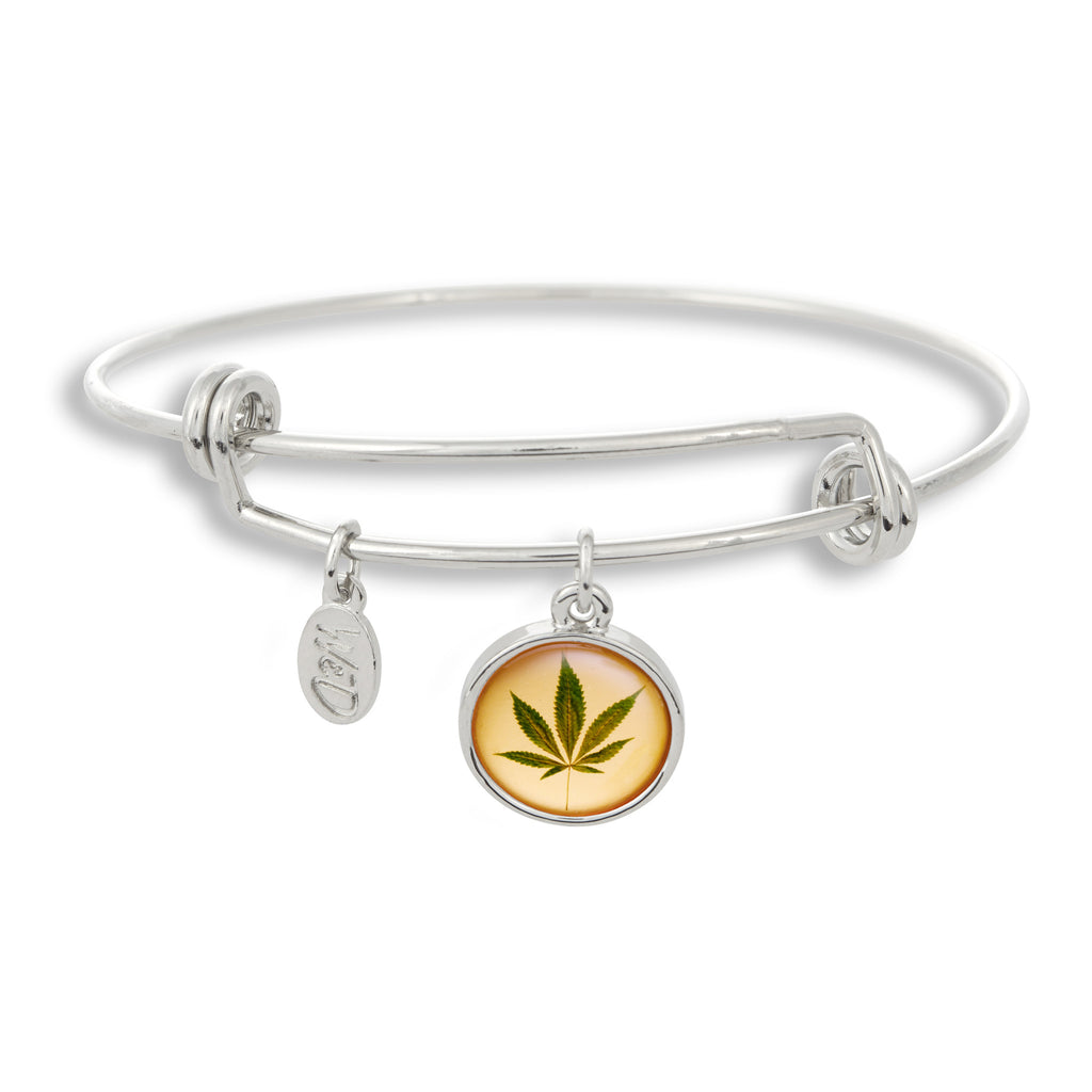 Show your support for cannabis (marijuana, pot) legalization everywhere by wearing it proud with The Adjustable Band Bangle Bracelet from Winkyt&Dutch.