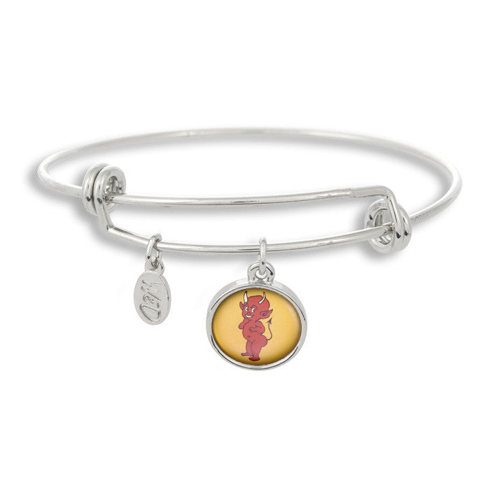 The Adjustable Band Bangle Bracelet featuring the Flash Tattoo Devil give you that inked in style!