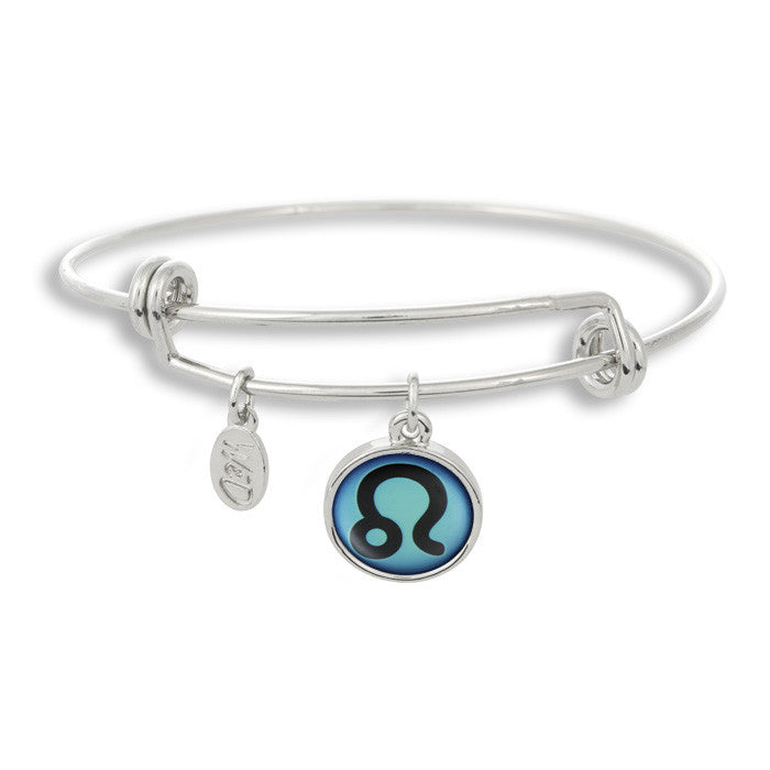 The Adjustable Band Bangle Bracelet featuring the color pop Leo astrology sign shows that your style is in the stars!