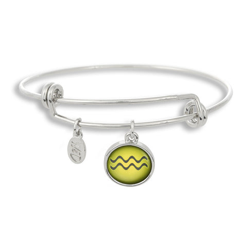The Adjustable Band Bangle Bracelet featuring the color pop Aquarius astrology sign shows that your style is in the stars!